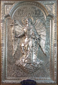 """Икона """"Ангел Хранитель"""" (фигура в серебре №11)"""