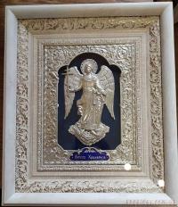 """Икона """"Ангел Хранитель"""" (30х34, серебрение, №3)"""