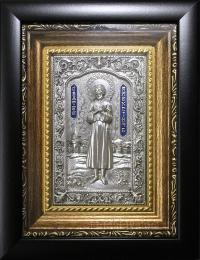 """Ікона іменна """"Олексій людина Божа"""" (сріблення, 14х17)"""