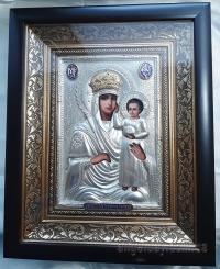 """Ікона Богородиці """"Призри на смирення"""" (в позолоченому вінці, 24х30)"""