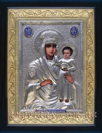 """Икона Богородицы """"Призри на смирение"""" (серебрение), код:020207"""