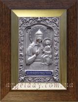 """Ікона Богородиці """"Ченстоховська"""" (""""Непереможна Перемога"""") 14х17, сріблення"""