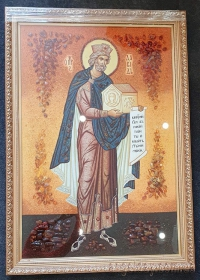 Именные иконы из янтаря (Мужские. На заказ)