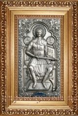 """Ікона іменна """"Дмитрій Солунський"""" (сріблення)"""
