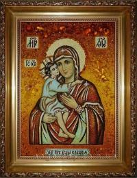 Иконы Богородицы из янтаря