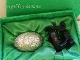 """Пасхальное яйцо """"Христос Воскрес"""" (серебрение)"""