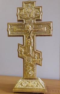Хрест напрестольний (позолота, 49х25)