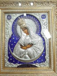 """Икона Богородицы """"Остробрамская"""" (позолоченная корона)"""