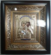 "Икона именная ""Пётр и Феврония (Давид и Евфросиния)"" позолота, 20х22"