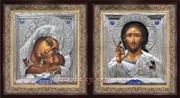 """Икона Богородицы """"Касперовская"""" (25х27, серебрение)"""
