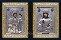 """Икона Богородицы """"Призри на смирение"""" (серебрение, 24х30)"""