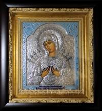 """Ікона Богородиці """"Семистрільна"""" (25х27, сріблення)"""