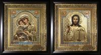 "Икона Иисуса Христа ""Спаситель"" (позолота, 25х27)"
