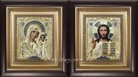 """Икона Иисуса Христа """"Господь Вседержитель"""" (20х22, позолота)"""