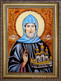 Икона Вашего Святого (На заказ, янтарная)