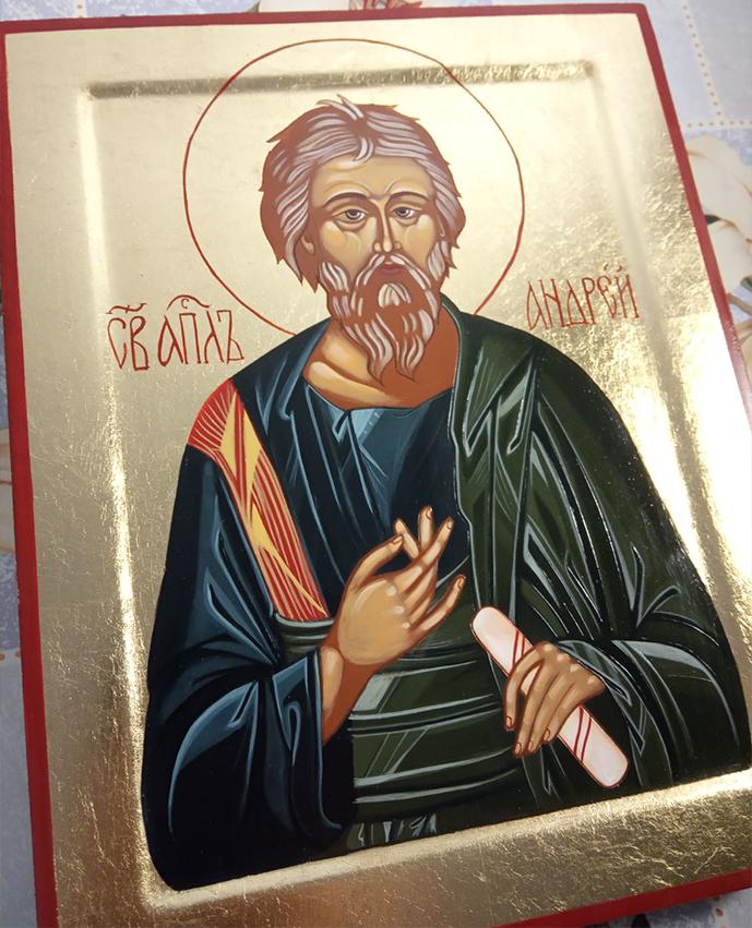 """Икона писаная """"апостол Андрей Первозванный"""""""