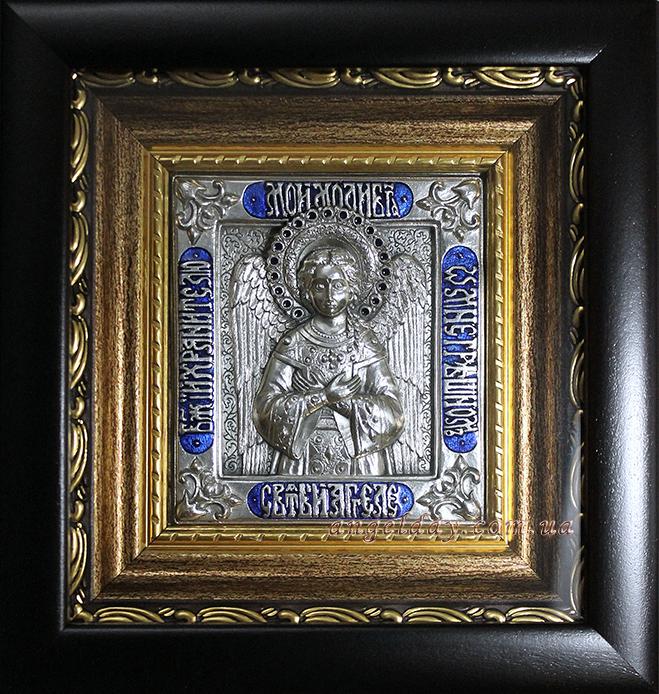 """Икона """"Ангел Хранитель"""" (малый, эмали, №5)"""