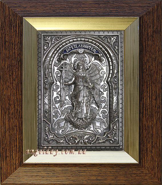 """Икона """"Ангел Хранитель"""" (малый, серебрение, фигура №8)"""