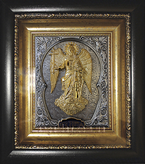 """Икона """"Ангел Хранитель"""" (позолота, серебрение, фигура №9)"""