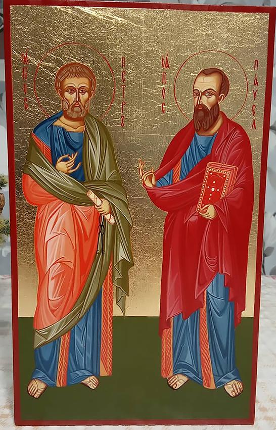 """Икона писаная """"апостолы Петр и Павел"""""""