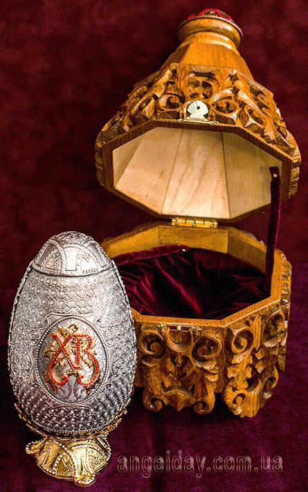 """Яйцо пасхальное """"Христос Воскрес"""" (большое)"""