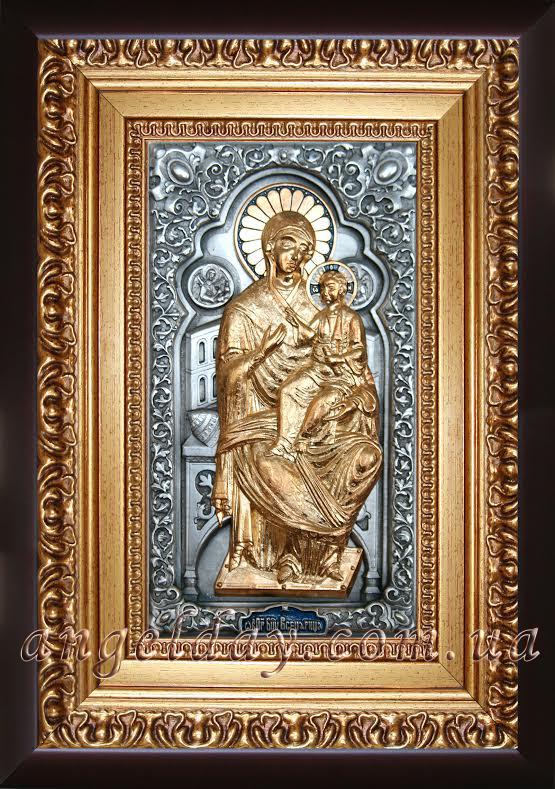"""Икона Богородицы """"Всецарица на престоле"""" (позолота)"""
