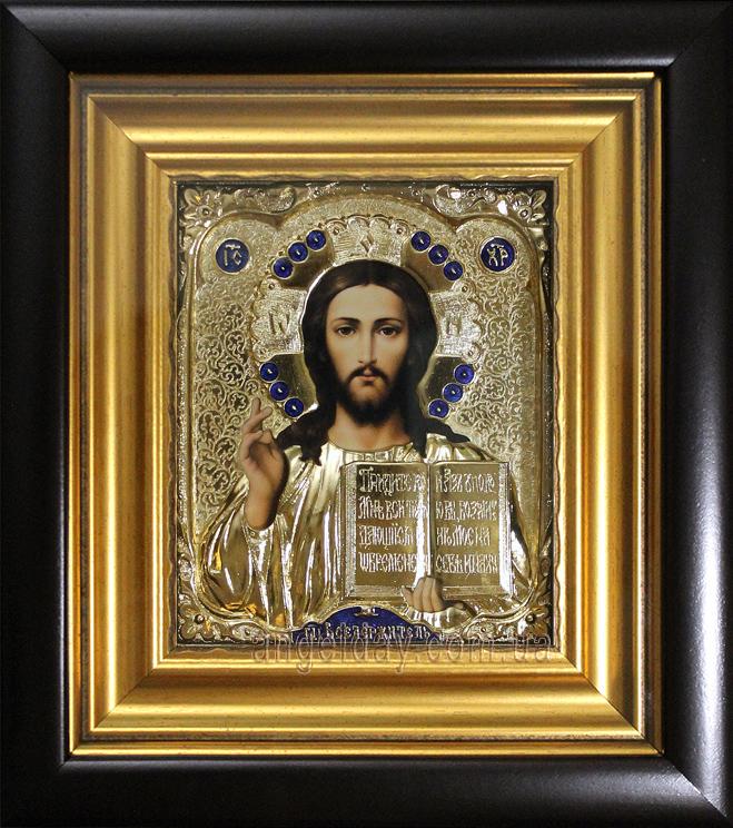 """Икона Иисуса Христа """"Господь Вседержитель"""" (малый, позолота)"""