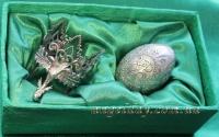 """Великоднє яйце """"Христос Воскрес"""" (сріблення або позолота)"""