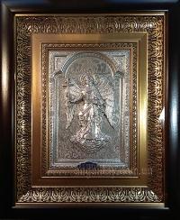 """Икона """"Ангел Хранитель"""" (26х32, фигура в серебре №11)"""