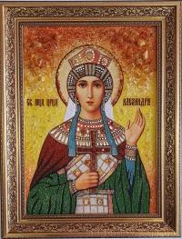 Именные иконы из янтаря (Женские. На заказ)