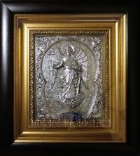 """Икона """"Ангел Хранитель"""" (18х20, серебрение, фигура 9/1)"""
