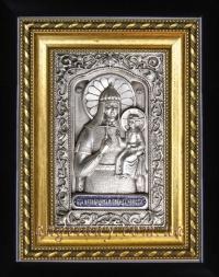 """Икона Богородицы """"Ченстоховская"""" (""""Непобедимая Победа"""") 14х17, серебрение"""