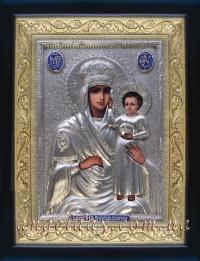 """Ікона Богородиці """"Призри на смирення"""" (сріблення, 24х30)"""