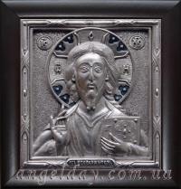 """Икона Иисуса Христа """"Спаситель"""" (13х14, малый, серебрение)"""