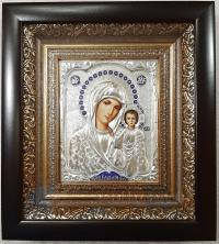 """Икона Богородицы """"Казанская"""" (20х22, малая, серебрение)"""