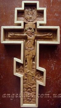Хрест-розп'яття настінний різьблений