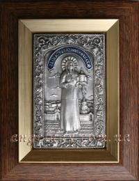 """Ікона іменна """"Матрона Московська"""" (сріблення, 14х15)"""