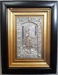 """Ікона іменна """"Свята княгиня Ольга"""" (сріблення, 14х17)"""