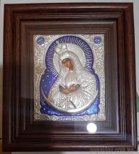 """Ікона Богородиці """"Остробрамська"""" (20х22, сріблення)"""
