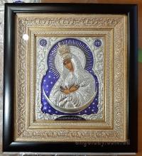 """Икона Богородицы """"Остробрамская"""" (позолоченная корона, 25х27)"""