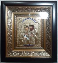 """Ікона іменна """"Петро і Февронія (Давид і Єфросинія)"""" позолота, 20х22"""
