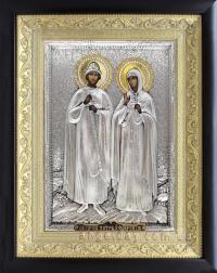 """Ікона іменна """"Петро і Февронія (Давид і Єфросинія)"""" (ростова, 24х30)"""