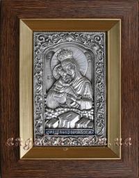"""Икона Богородицы """"Почаевская"""" (14х17, серебрение)"""