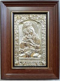 """Икона Богородицы """"Почаевская"""" (14х17, позолота)"""