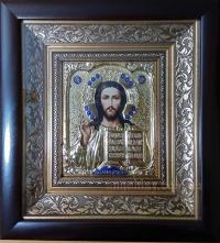 """Икона Иисуса Христа """"Господь Вседержитель"""" (20х22, малый, позолота)"""