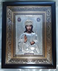 """Икона Иисуса Христа """"Господь Вседержитель"""" (в позолоченном венце, 24х30)"""