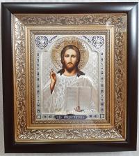 """Икона Иисуса Христа """"Спаситель"""" (позолоченный венец, 25х27)"""