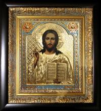 """Ікона Ісуса Христа """"Спаситель"""" (позолота, 25х27)"""