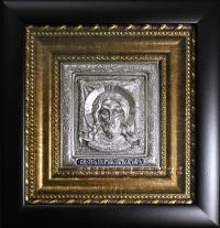 """Икона Иисуса Христа """"Спас Нерукотворный"""" (13х14, малый, серебрение)"""