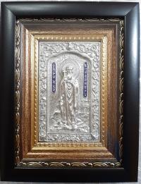 """Икона именная """"Князь Владимир Великий"""" (серебрение, 14х17)"""